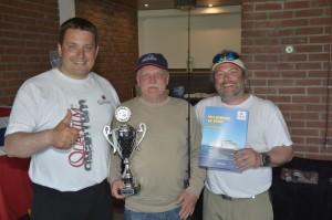 In der Mitte Hans-Michael Stubner (Gewinner) neben mir und Sven Weide (links).